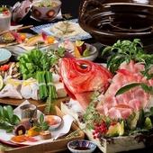 結納や還暦の祝いなどにふさわしい、コース料理