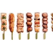 おいしい串をいいとこどり。今宵のおすすめを網羅できる『串焼き8本盛り合わせ』