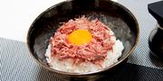 腰塚のコンビーフを使った究極のTKG!! 上質な脂が、温かいお米と合わさり絶妙な味わい! 作り方はHPで!