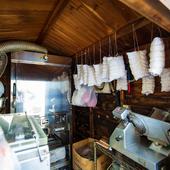 『冷燻』のために設けられた専用の燻製室
