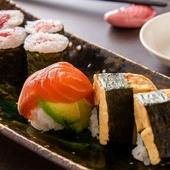カルパッチョや手毬寿司など、女性に人気のお料理を中心に楽しめるご宴会コースです。