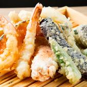 粉からこだわった自家製『天ぷら盛り合わせ』
