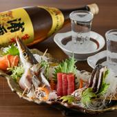 早川漁港&漁船直送の新鮮魚介とこだわり肉が堪能できる