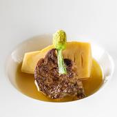 『竹の子とフォアグラのソテー』などの季節のフォアグラ料理