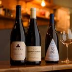 同じ銘柄をたくさん仕入れるのではなく、様々な国や産地のワインの中から、おいしいと思ったものを随時仕入れ、味わいもライトボディからフルボディまでしっかりラインナップ。きっと好みのワインが見つかります。