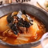 いろいろなお酒に合う店主渾身の一皿『ピリ辛韓国風肉じゃが』