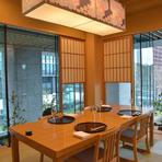 会食には6名・8名定員の個室も利用可能