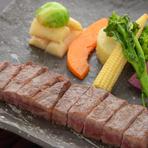 石川県産の希少素材を堪能『能登牛のステーキ』