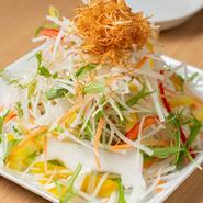 野菜が山のように積み上げられた『マウンテンサラダ』