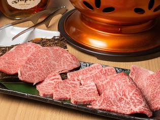 きめ細かな肉質と、柔らかい食感が特長の「A5ランクのメス牛」