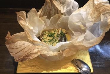小田原で水揚げされた新鮮サバ『サバ味噌の紙包み焼き』