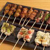 肉類や野菜など多彩に取りそろえる『串焼き』