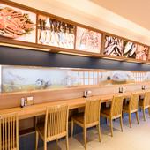 マイペースでおいしい鮮魚を堪能できる、お一人様の特等席