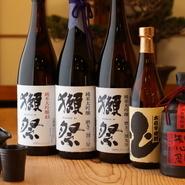 うなぎによく合う酒として人気の『西の関』や『獺祭』の純米大吟醸もあり、好きな酒と料理をゆっくり楽しめます。また、サワーはそのままでもおいしいホワイトブランデー仕立てのサッポロのものを使用しています。