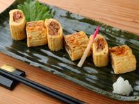 小田巻蒸し(うどん入り茶碗蒸し)・天麩羅(とり天・野菜4種)