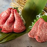 その時期一番の最上質な和牛に加え、希少な羊肉「北海道産純血サフォーク ホゲット」を味わえるのが特長。焼肉と和食を融合した4種のコース料理、アラカルトがあり、極上肉をいろいろな趣向で大満喫できます。