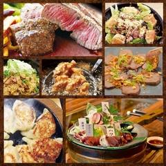 馬牛豚鹿、4種類の肉が一度に楽しめる名前の通りプレミアムなコース。肉島屋名物が味わえるのも魅力です。