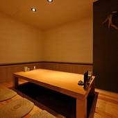 接待や会食、少人数での集まりにぴったりな完全個室をご用意
