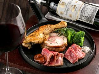 有名熟成肉業者とコラボの『格之進の特製熟成肉乗せ盛合せ』