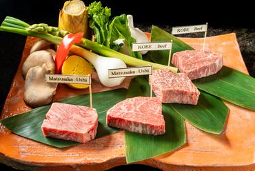 贅を極めるひと品『松阪牛と神戸ビーフのステーキの食べ比べ』