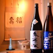 お好みに応じられるよう、日本酒は幅広いラインナップで