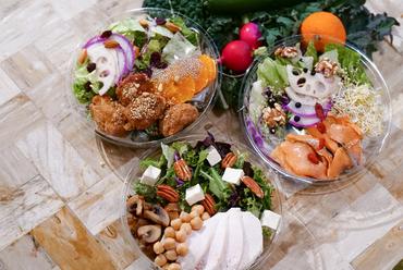 有機野菜をたっぷり使った サラダプレート