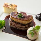 肉汁を閉じ込めた牛フィレにソースをたっぷり絡めて『牛フィレ肉のグリル 赤ワインソース ロッシーニ風』