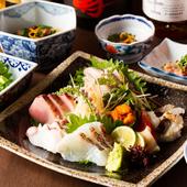 瀬戸内海の旬の味を楽しむ『お刺身盛り合わせ5種(2人前)』