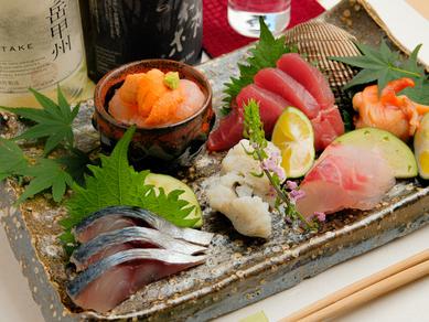 旬の魚介の旨みを堪能できる『お造り盛り合わせ』