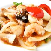 海鮮と野菜をたっぷり使用 ヘルシーな『XO醤海鮮炒め』