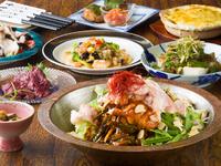 人気のプリップリお肉『モツの焼鍋』が入った贅沢なコース