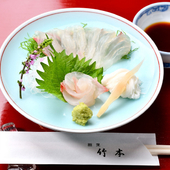 その季節にしか味わえない旬魚の魅力を最大限に引き出した『鯛の昆布締めお刺身』