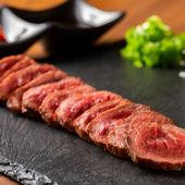 赤ワインとの相性抜群! コクのある肉をシンプルに『北海道産ジャージー牛たたき』