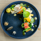 """新鮮な""""旬のもの""""を食す『近江野菜20種のサラダ』"""