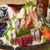 定番から珍味まで楽しめるお造り『大漁盛り(4人前)』