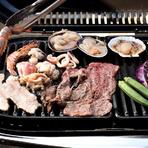 追加メニューとして、1ポンドステーキや丸ごと1匹のオマール海老といった「豪華食材」もリーズナブルな価格で用意。BBQを更にグレードアップしてみませんか。