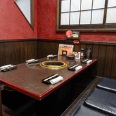 全席個室でプライベート空間も確保。ゆったり食事を楽しめる
