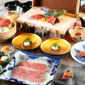 【お料理のみ・肉寿司、飲めるハンバーグ等12品】将泰庵コース
