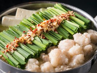コースご利用ならこちら!特製のあご出汁を使った絶品もつ鍋・肉刺し・〆・甘味まで!