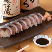 素材の鮮度と絶妙な食感『鯖寿司』