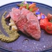 ステーキと煮込み料理を同時に味わえる『黒毛和牛のタリアータ』