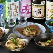 四季折々の旬食材を使った料理と日本酒を、心ゆくまで堪能できる豪華なコース。2時間の飲み放題がついており、お酒好きな方もきっと満足できるハズです。※写真はイメージです。