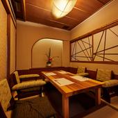 2~8名で利用可能な、1階堀りごたつ個室