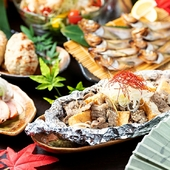 【迷ったらこれ!】秋の美食!炭まろ満足コース☆<120分飲み放題付>5000円⇒4000円