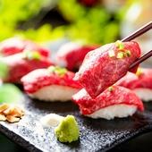 和牛リブロースの大判!炙り肉寿司