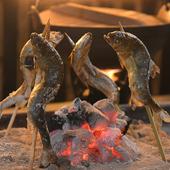 新鮮な食材をシンプルに炭火で焼き上げる『鮎の塩焼き』