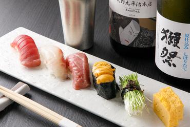 新鮮魚介のネタとシャリの絶妙なバランスが美味しさの秘訣『お寿司盛合わせ』