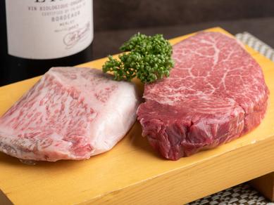 和牛ならではの贅沢な味わい『特選黒毛和牛ヘレ100g/サーロイン120g』