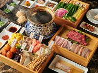 お店の人気料理を思う存分に堪能できる『宝茸黒湯コース』