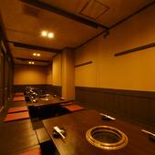 ほぼ完全個室の空間で、プライベート感覚のくつろぎを
